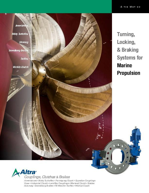 Turning, Locking, & Braking Systems for Marine Propulsion