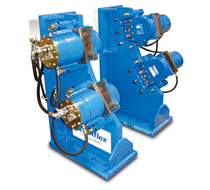 Twiflex VKSD-FL Brake Station on Two Geared Ball Mills