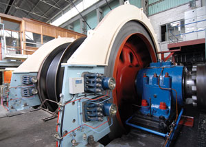 VMS Brake on Double Drum Winder in Gold Mine